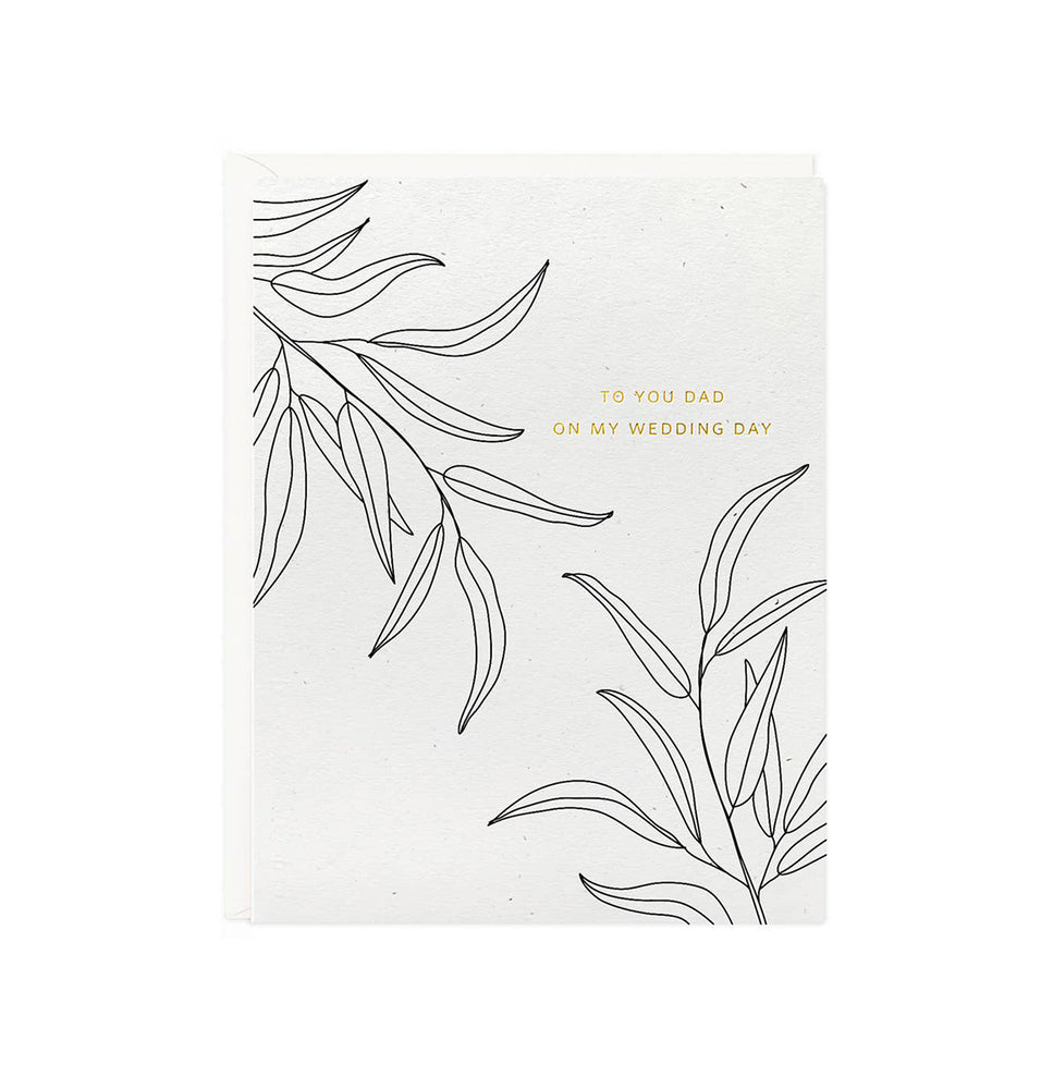 Botanical Dad Wedding Day Card