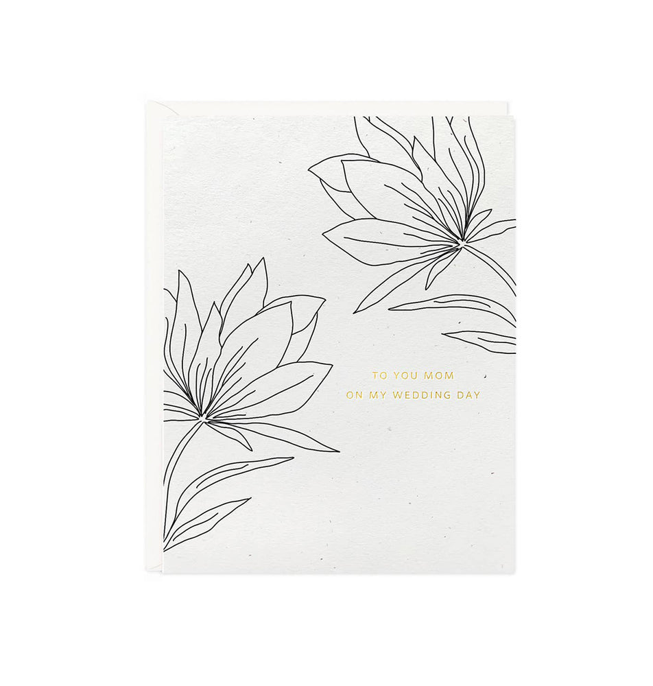 Botanical Mom Wedding Day Card