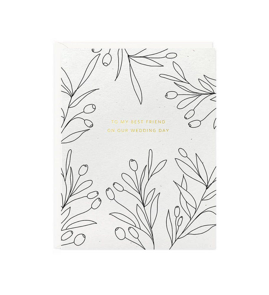 Botanical Our Wedding Day Card