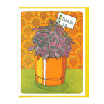 Polka Dot Plant Thank You Card