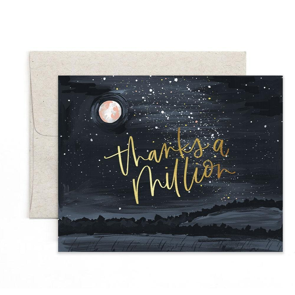 Starry Night Thank You Card