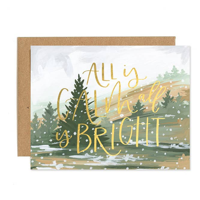 Calm and Bright Landscape Boxed Card Set of 8