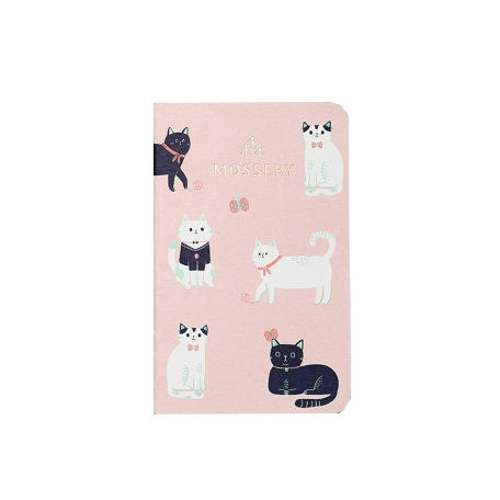 Mossery Pocket Notebook - Pink Cats - M.Lovewell