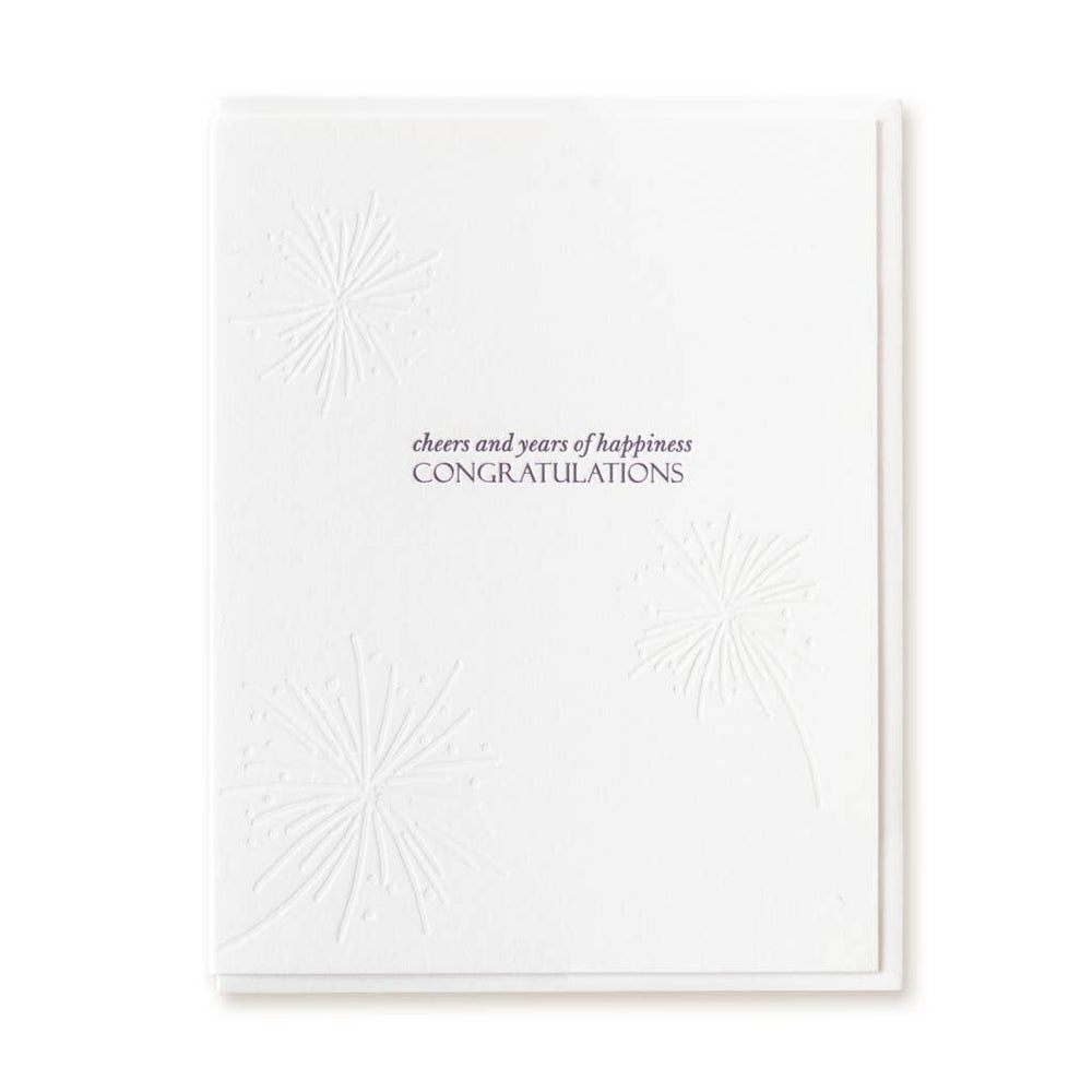 Cheers & Years Wedding Card - M.Lovewell
