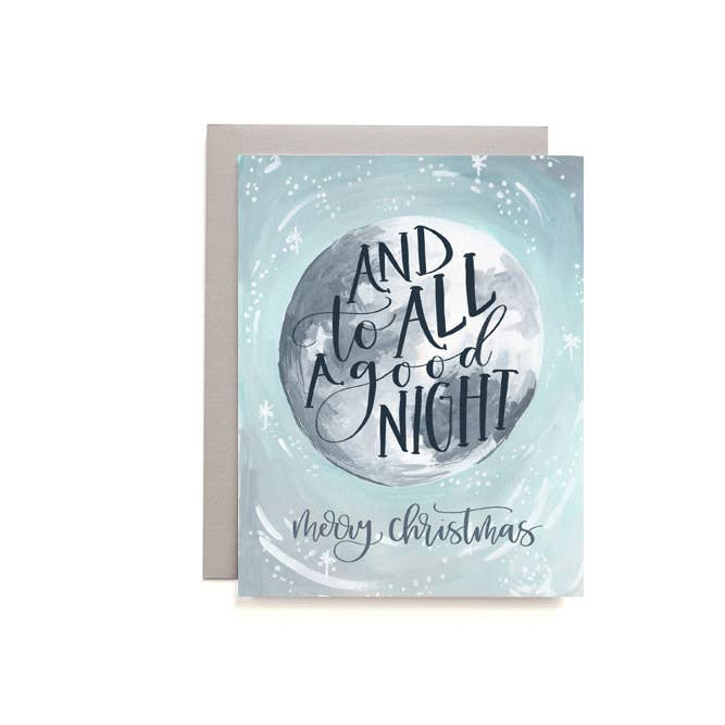 Christmas Moon Boxed Card Set of 8