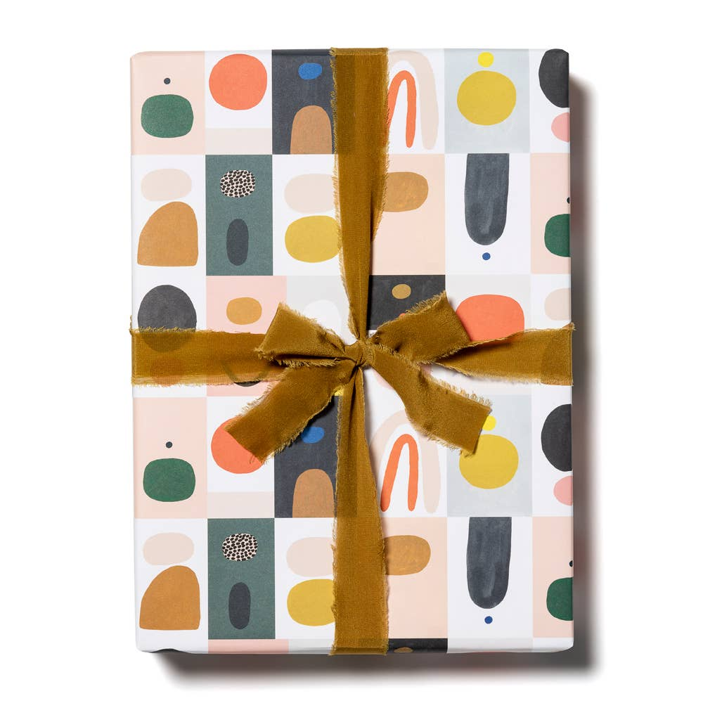 Color Block Gift Wrap Sheet