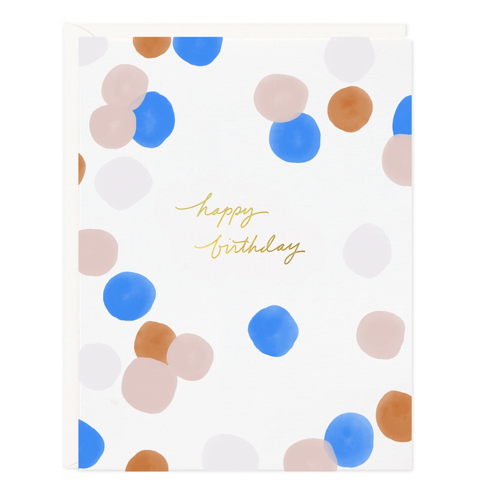 Colorful Dots Birthday Card