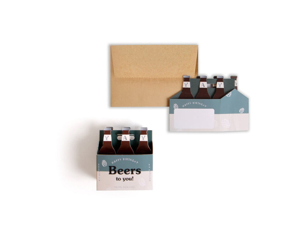 Beers to You Birthday Card - M.Lovewell