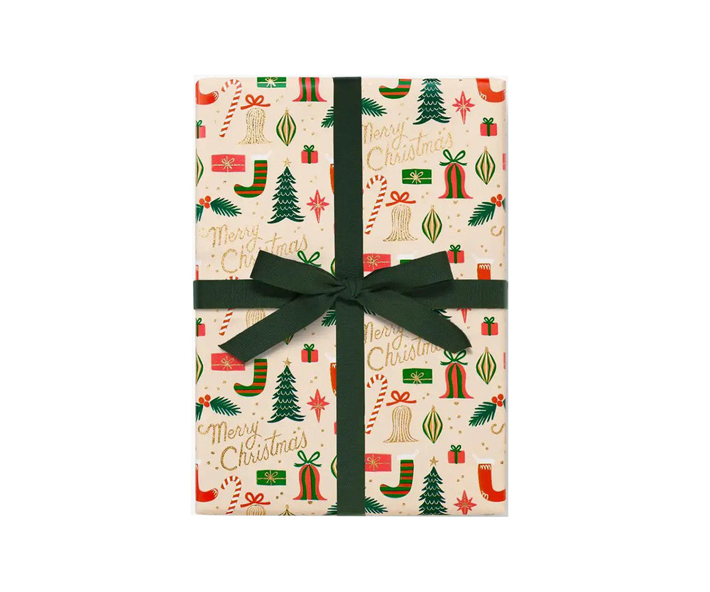 Deck the Halls Gift Wrap Continuous Roll