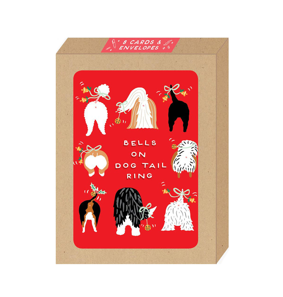 Dog Tails Holiday Boxed Card Set of 8