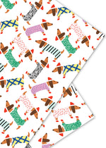 Dachshunds Holiday Gift Wrap Roll