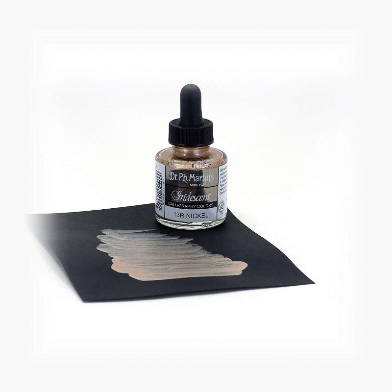Dr. Ph. Martin's Iridescent Calligraphy Ink - Nickel - M.Lovewell