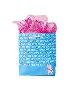I Will Not Keep Things I Buy Gift Bag - M.Lovewell