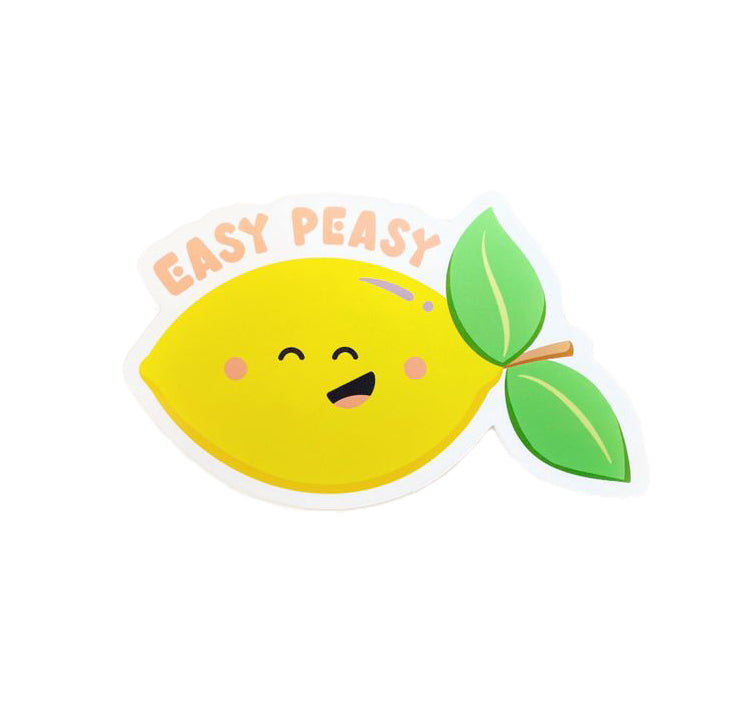 Easy Peasy Lemon Vinyl Sticker