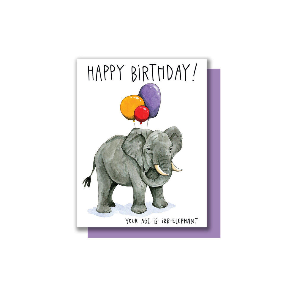 Elephant Birthday Card - M.Lovewell
