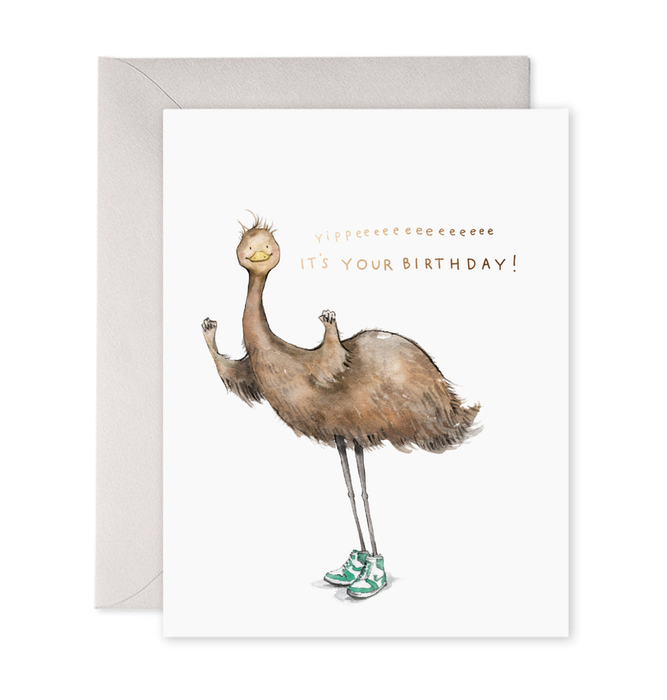 Emu Birthday Card