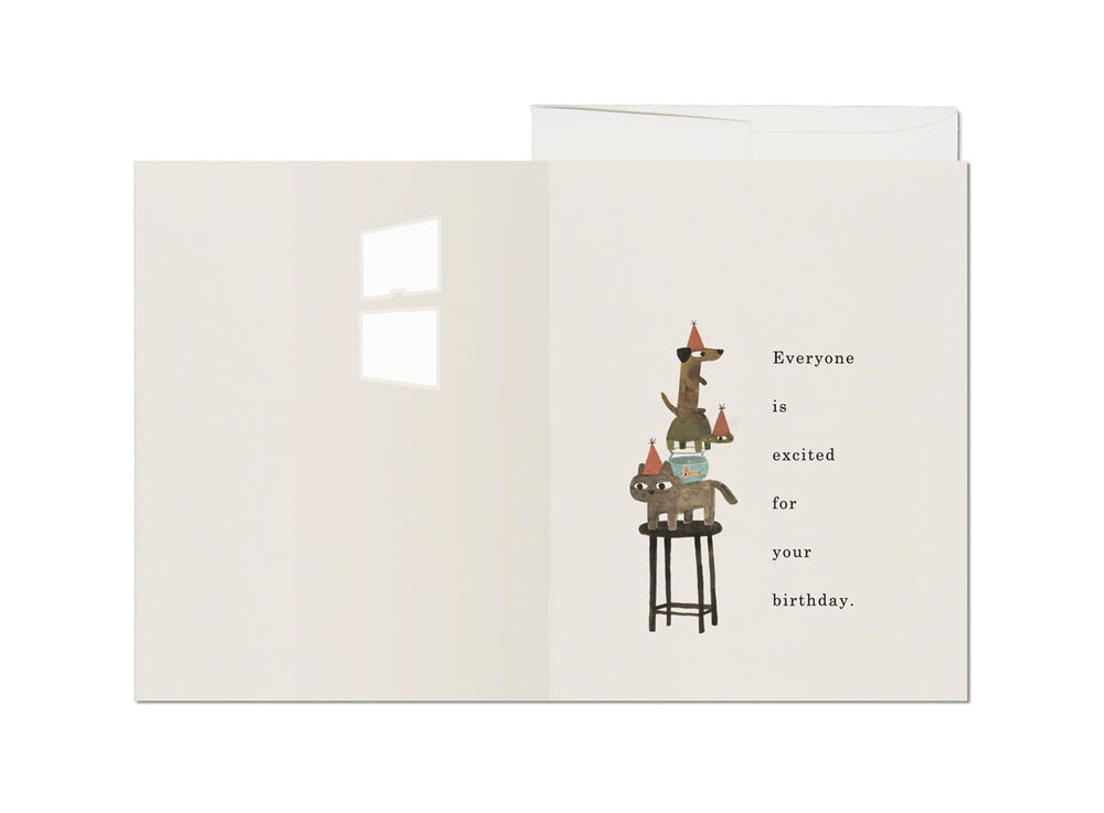Everyone is Excited Birthday Card - M.Lovewell