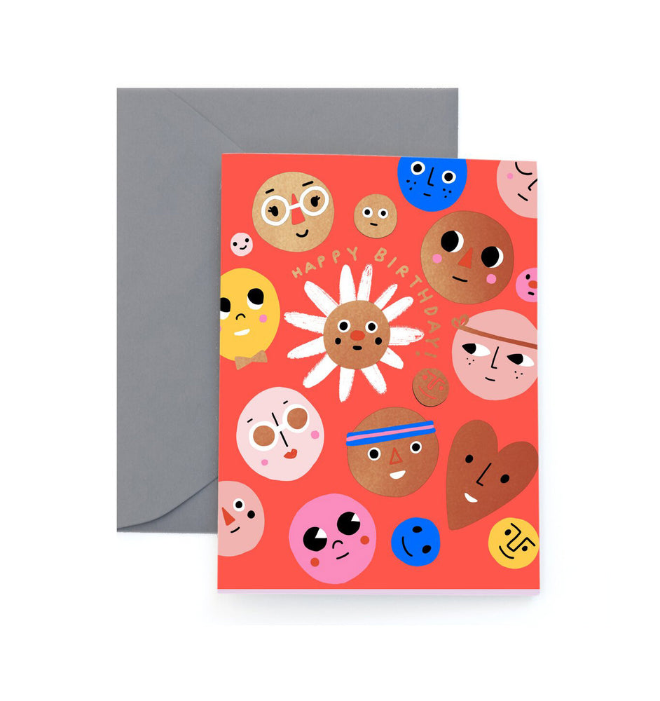 Happy Faces Birthday Card - M.Lovewell