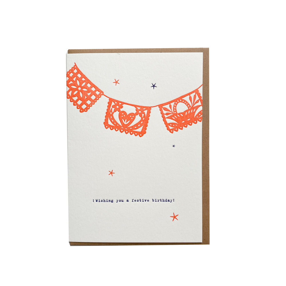 Festive Birthday Card - M.Lovewell