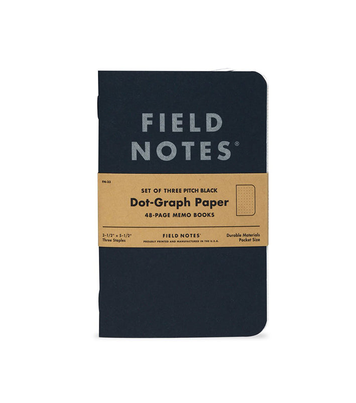 Pitch Black Dot-Graph Memo Books