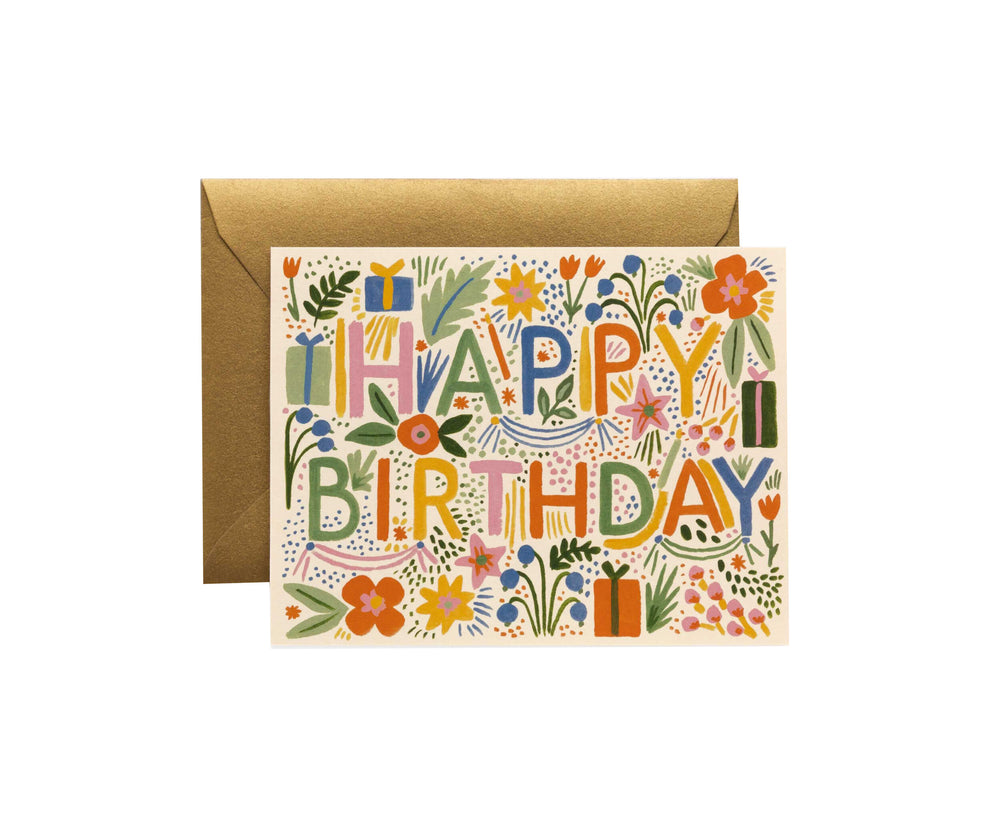 Fiesta Birthday Card - M.Lovewell