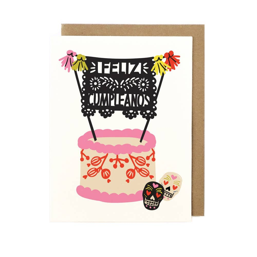 Folk Birthday Card - M.Lovewell