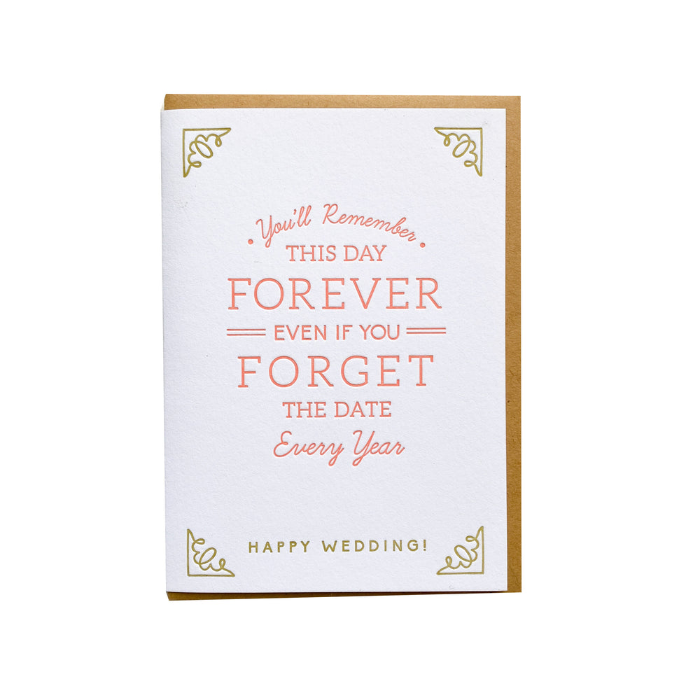 Forget the Date Wedding Card