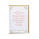 Forget the Date Wedding Card - M.Lovewell