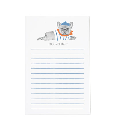 Frenchie Important Notepad