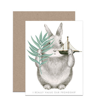 Frondship Bunny Card - M.Lovewell
