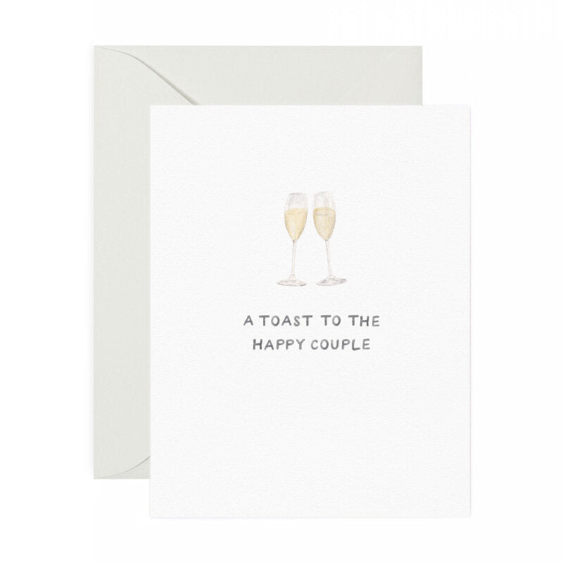 Champagne Toast Wedding Card - M.Lovewell