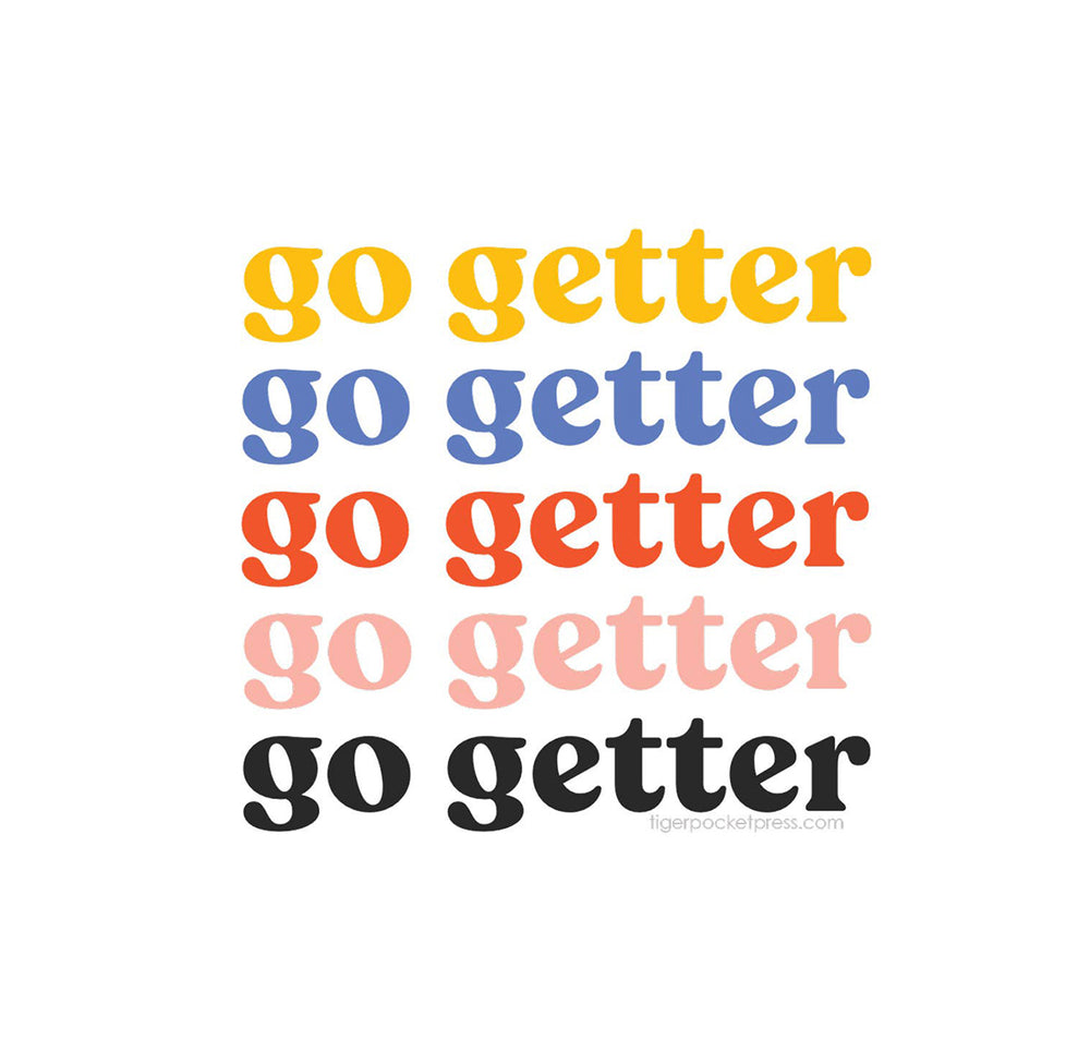Go Getter Vinyl Sticker