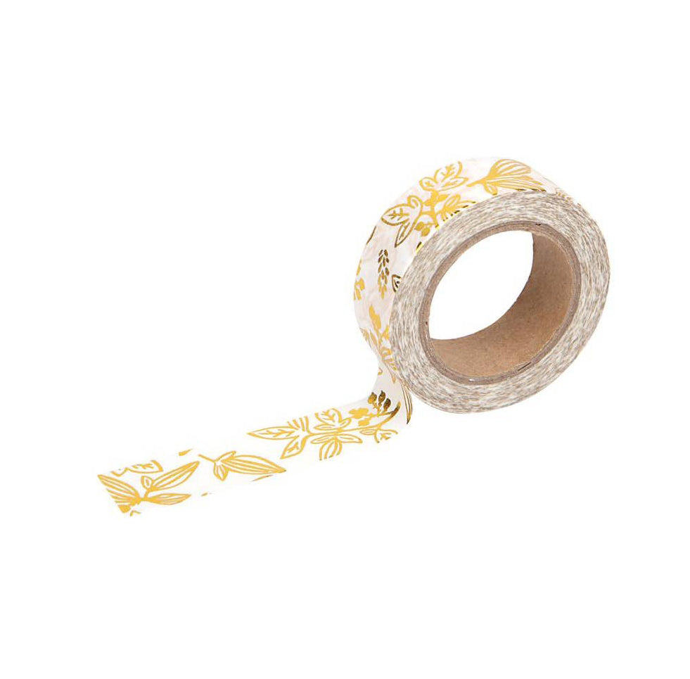 Gold Floral Washi Tape