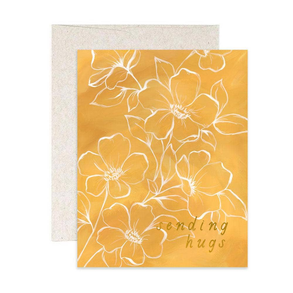 Golden Poppy Hugs Card