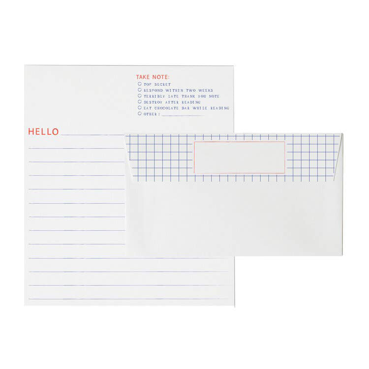 Graph Paper Letter Writing Set