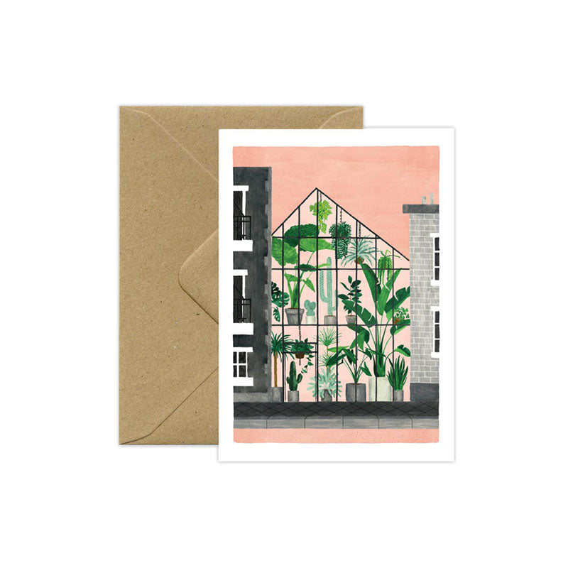 Greenhouse Plant Love Card - M.Lovewell