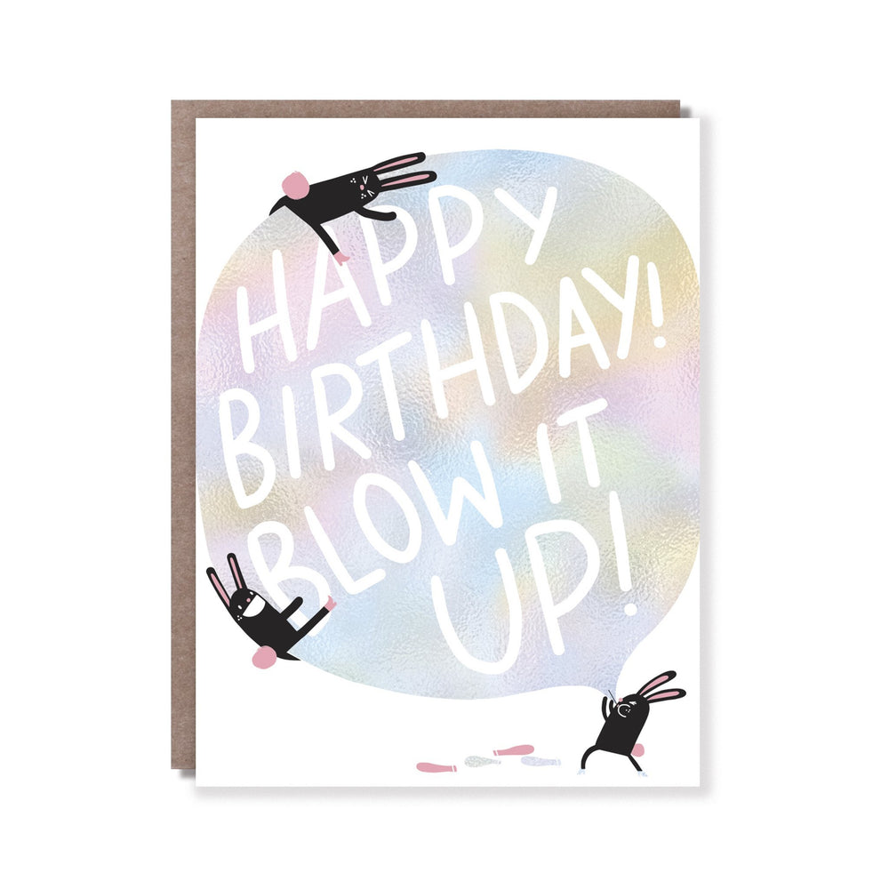 Blow It Up Birthday Card - M.Lovewell