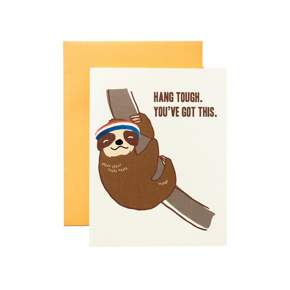 Hang Tough Sloth Card - M.Lovewell