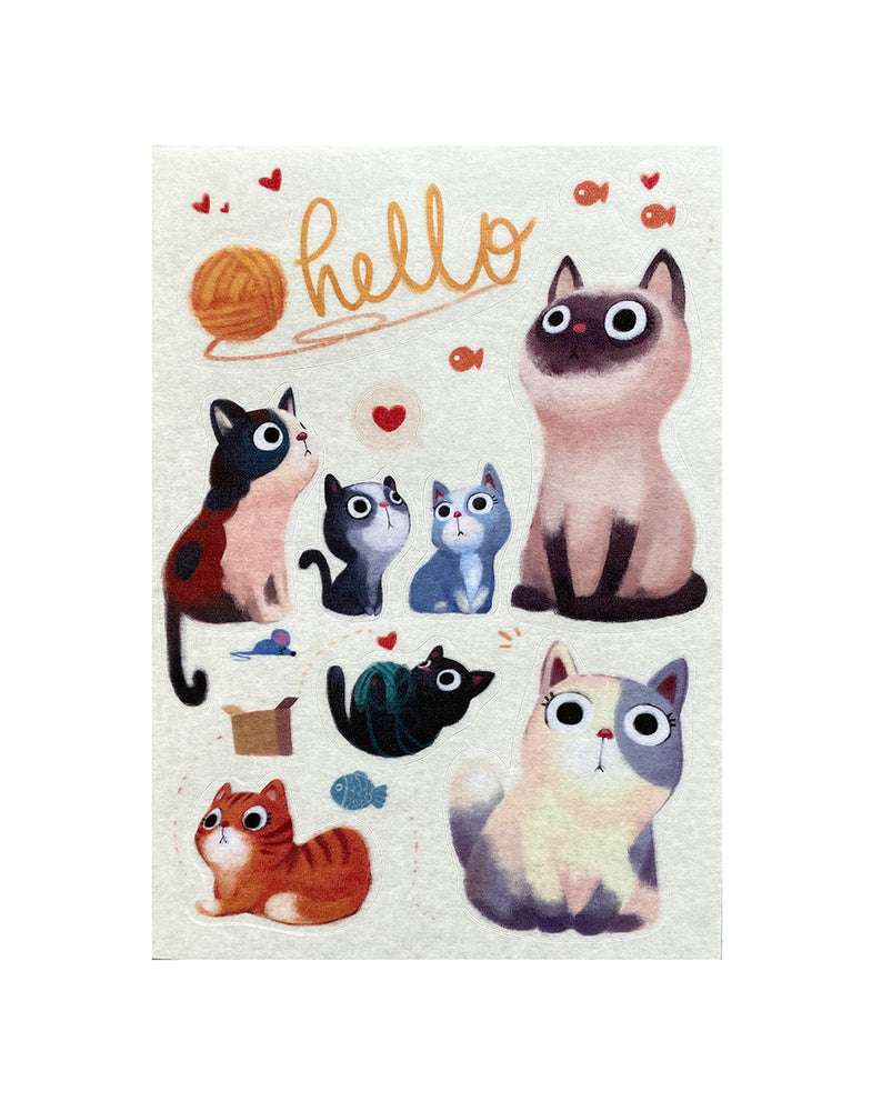 Hello Cat Washi Sticker Sheet