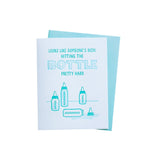 Hitting the Bottle Baby Card - M.Lovewell