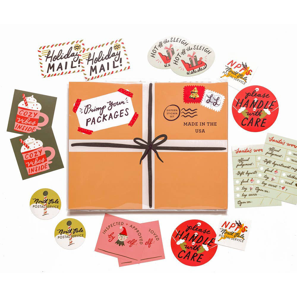 Holiday Primp Your Packages Sticker Set