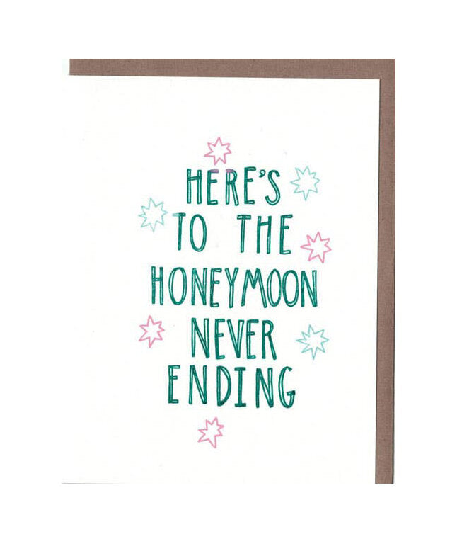 Honeymoon Wedding Card