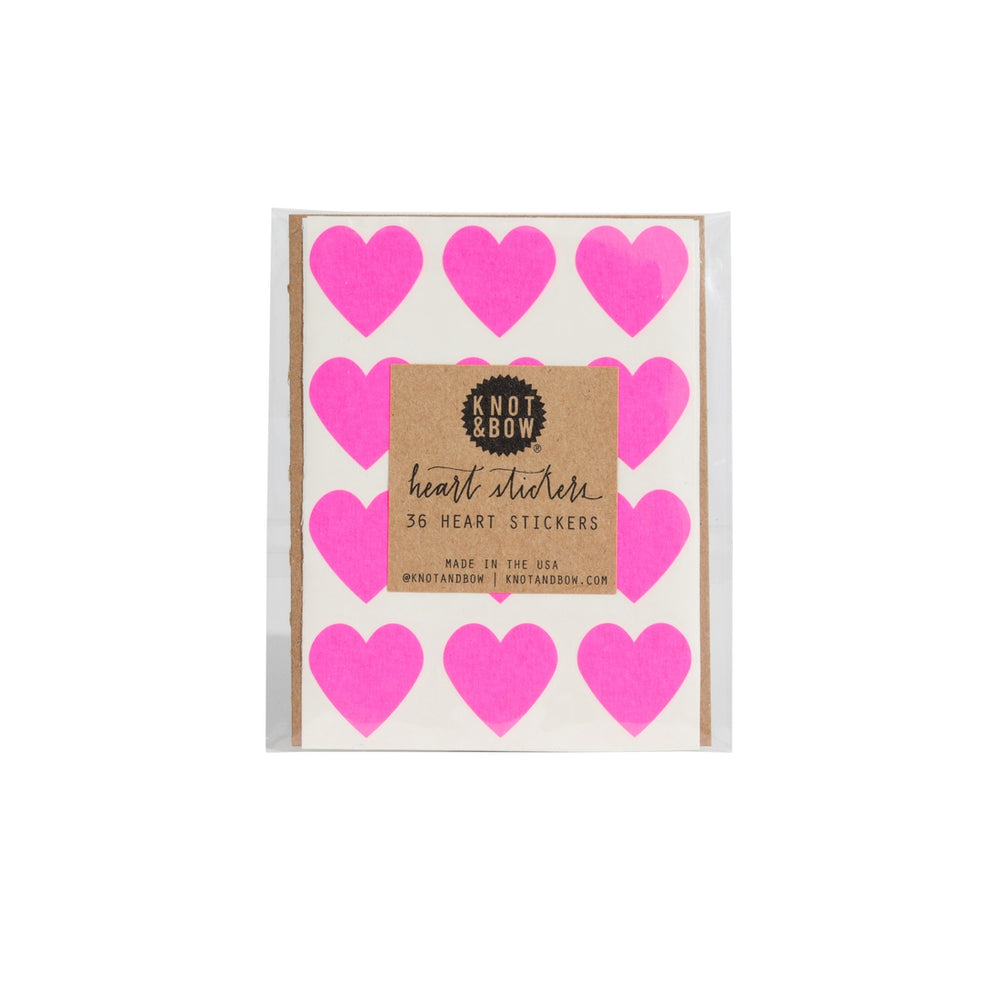 Hot Pink Heart Stickers