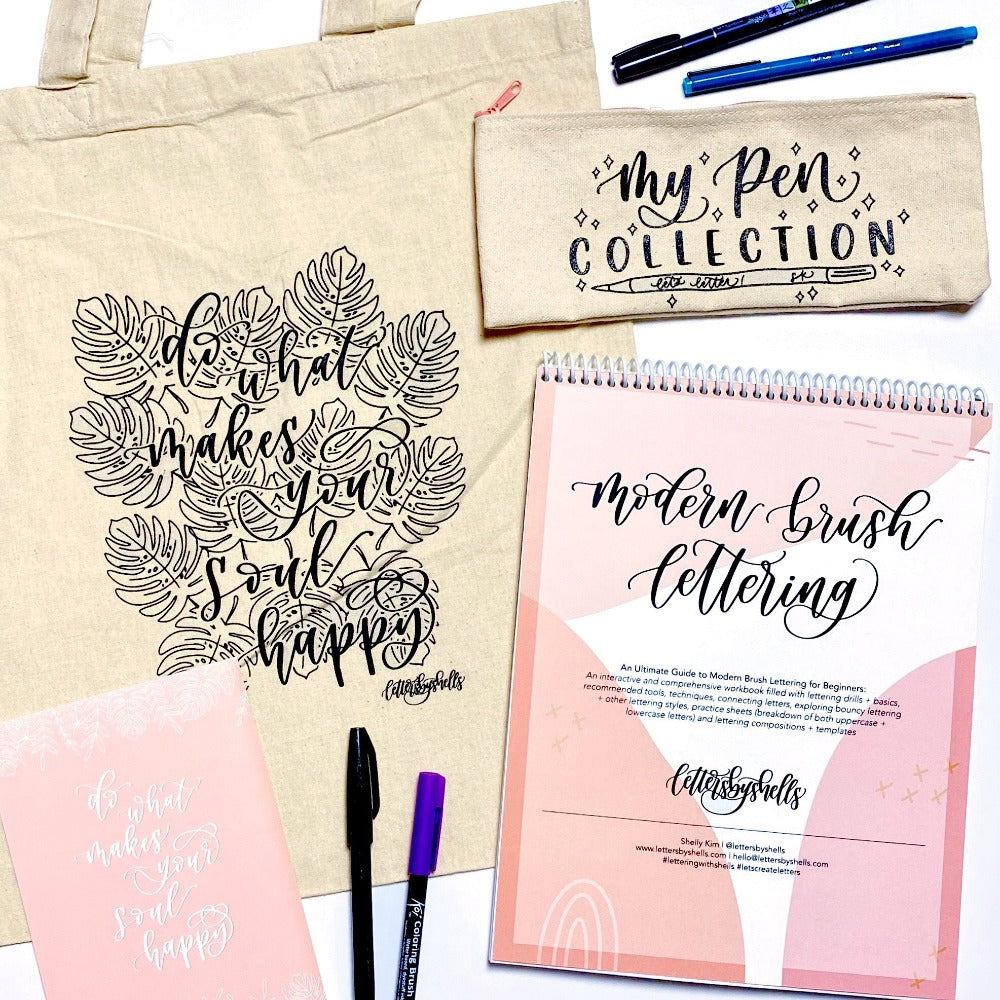 October 31: Modern Brush Lettering with Letters By Shells