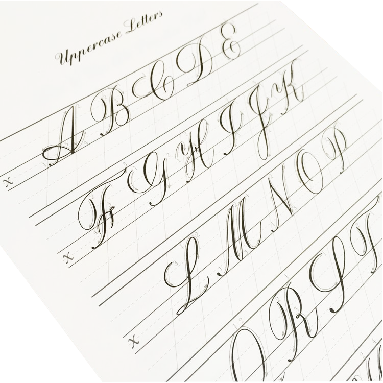 Copperplate Practice Pad - Uppercase Letters - M.Lovewell