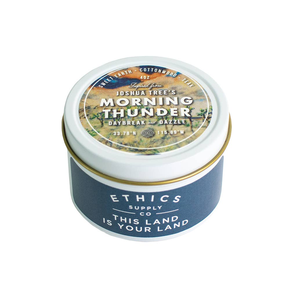 Joshua Tree National Park Morning Thunder Travel Candle