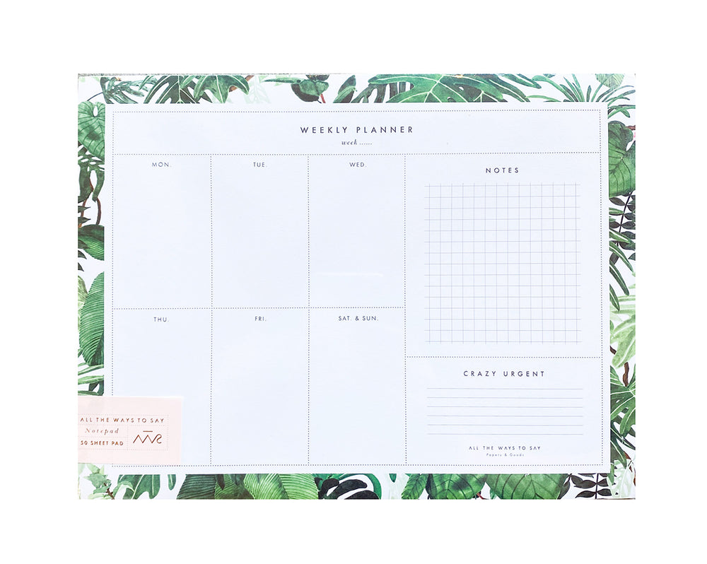 Jungle Weekly Planner Notepad