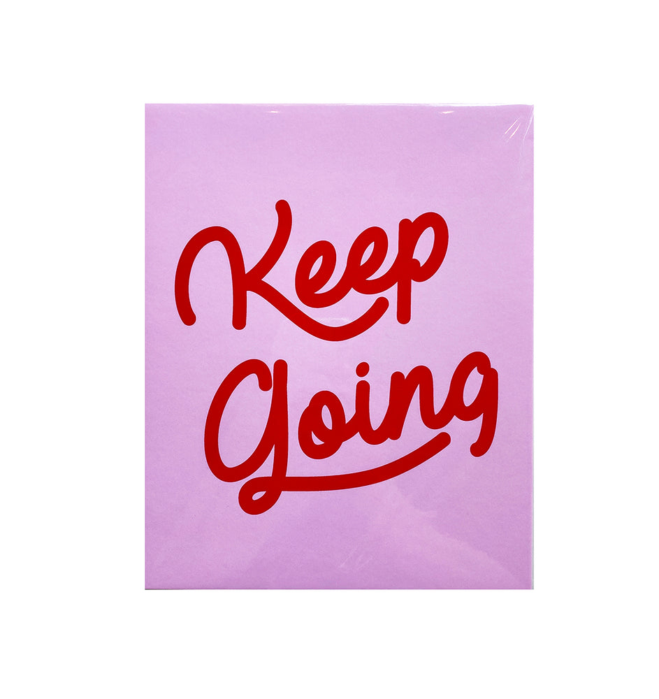 Keep Going Wall Print