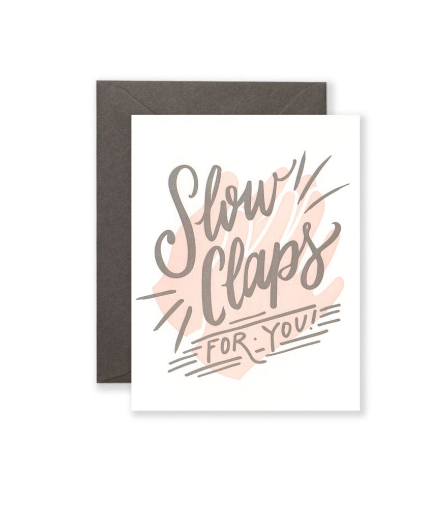 Slow Claps Card - M.Lovewell