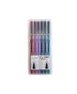 Le Pen Flex Brush Pen Set of 6 - Jewel - M.Lovewell
